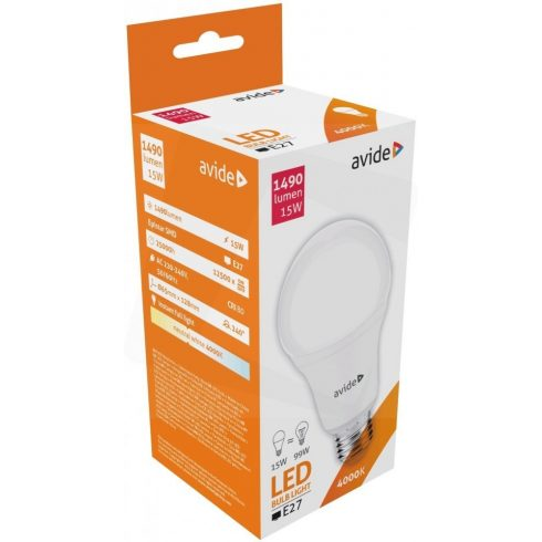 Avide LED Globe G60 15W E27 240° NW 4000K