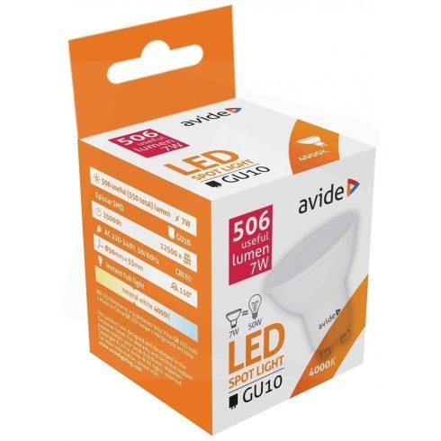 Avide LED Spot Alu+plastic 7W GU10 110° NW 4000K