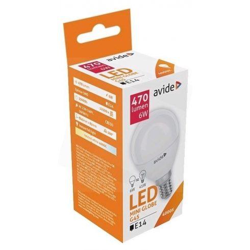 Avide LED Globe mini G45 6W E14 NW 4000K